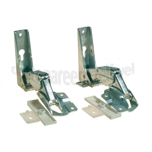 Scharnieren -set, metaal, onder/boven- Bauknecht/Whirlpool koelkast 481231018626